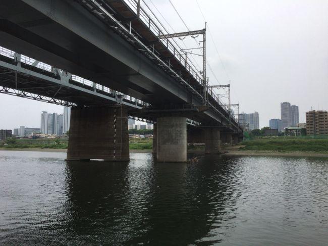 横須賀線、東海道新幹線の鉄橋