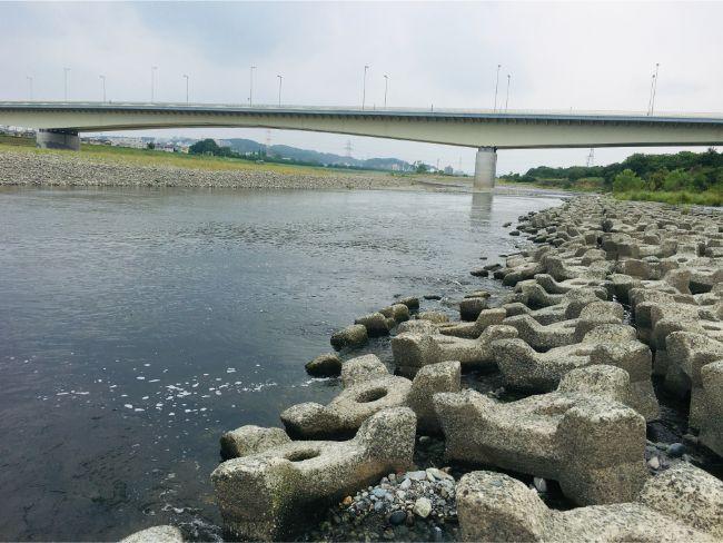 多摩川稲城大橋付近